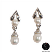 Taj Pearl attractive pure pearl earrings