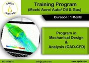 Program in Mechanical Design & Analysis (CAD-CAE)