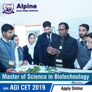 M Sc (Biotechnology) Fee Alpine Group