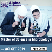 M Sc (Microbiology) fee Alpine Group