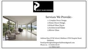 Glass designer for unique style, toughened glass & mirror glass work