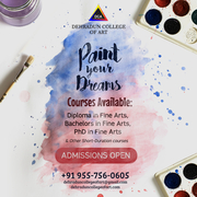 Paint your dreams with our guidance at Dehradun College of Art